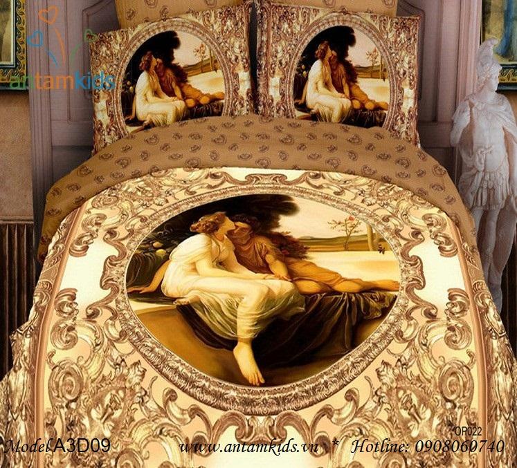 Chăn ga gối 3D hoàng cung cổ điển lãng mạn sang trọng, phong cách châu Âu  - AnTamKids.vn