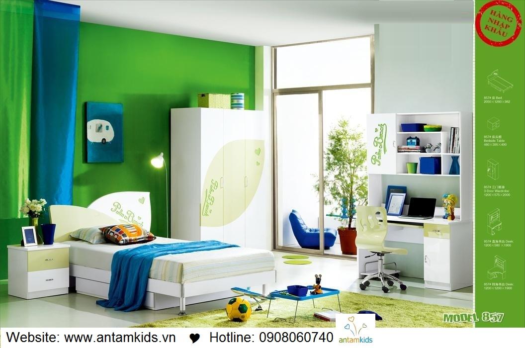 Phòng ngủ trẻ em H857 xinh xắn giá cực tốt| Noi That Tre Em AnTamKids