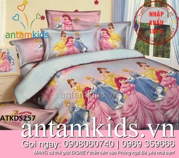Chăn ga gối Những nàng Công chúa Disney nổi tiếng cho bé gái antamkidsvn