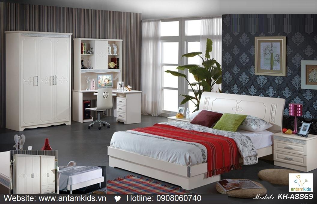 Phòng ngủ KH-A8869, noi that phong ngu, phong cuoi dep, phong ngu han quoc