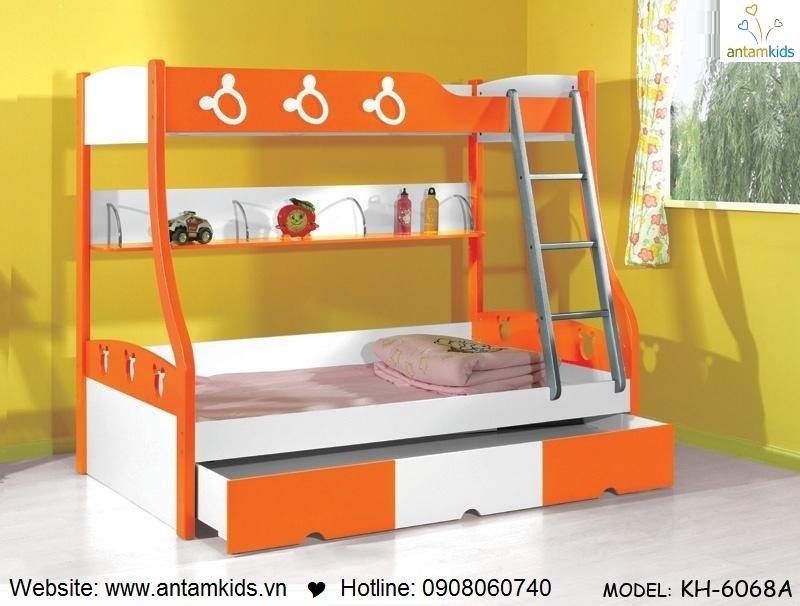 Giường 3 tầng trẻ em KH6068A- GIÁ ưu đãi TỐT NHẤT thị trường | ANTAMKIDS.VN