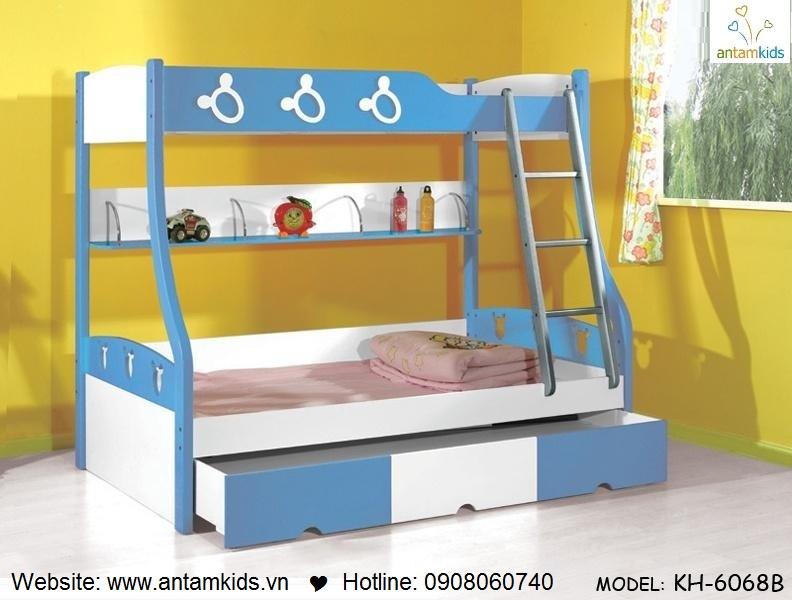 Giường 3 tầng trẻ em KH6068B - GIÁ ưu đãi TỐT NHẤT thị trường | ANTAMKIDS.VN