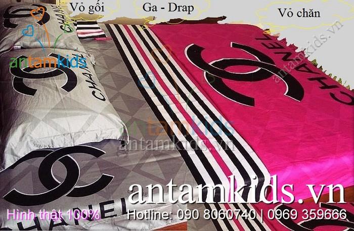 Chăn mền ga drap Chanel Hồng xám quyến rũ sang trọng cao cáp - AnTamKids.vn