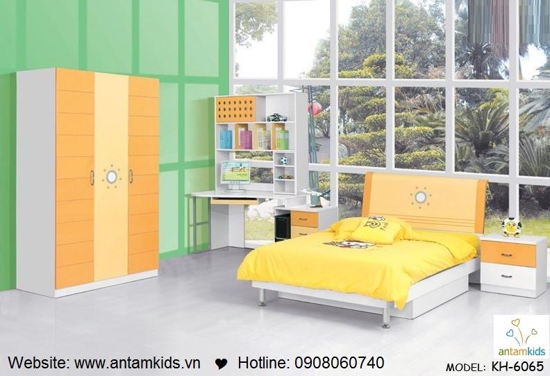 Phòng ngủ trẻ em KH-6065 đẹp thiên thần | PHONG TRE EM ANTAMKIDS