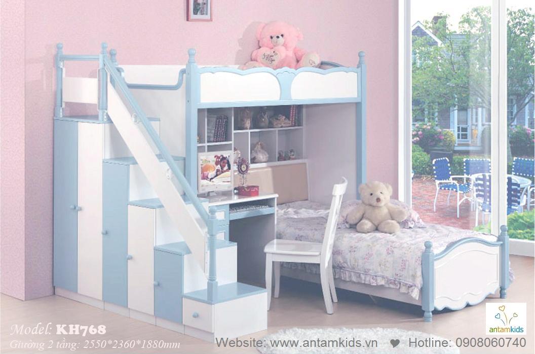 Giường tầng trẻ em KH768
