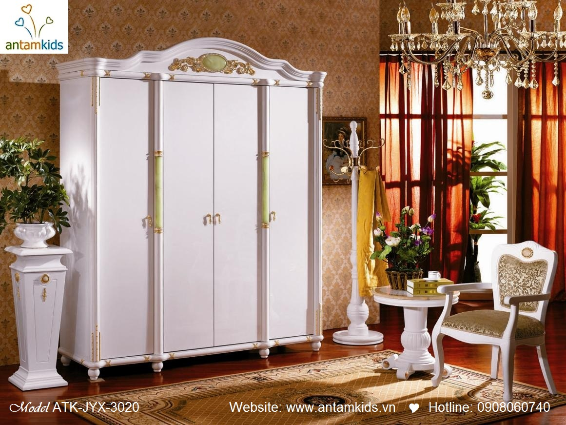 Phòng ngủ cổ điển ATK-JYX-3020 tuyệt đẹp và sang trọng, Noi That co dien AnTamKids, noi that co dien chau au