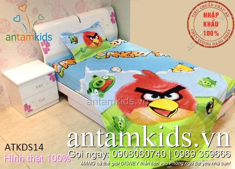 Bộ chăn ga gối Angry Birds ngộ nghĩnh siêu đáng yêu cho trẻ em - antamkidsvn