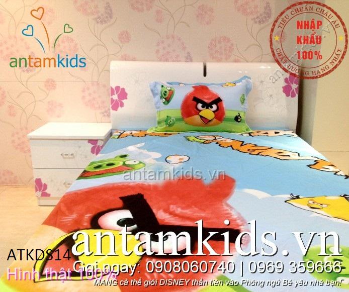 Chăn ga gối hình Angry Birds ngộ nghĩnh siêu đáng yêu cho trẻ em - antamkidsvn