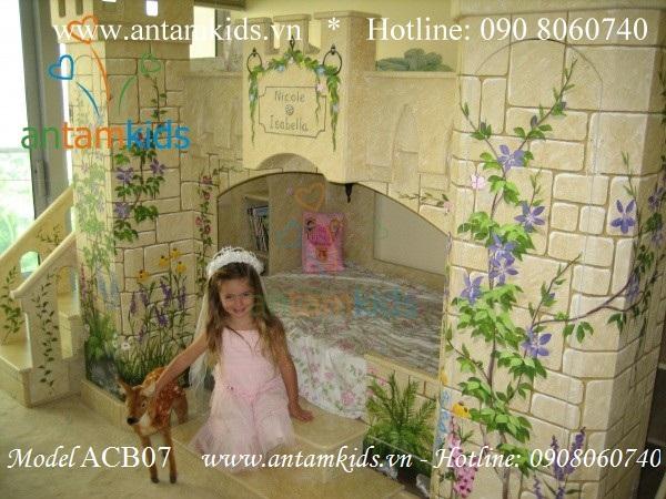 Giường lâu đài Công chúa Isabella ACB07