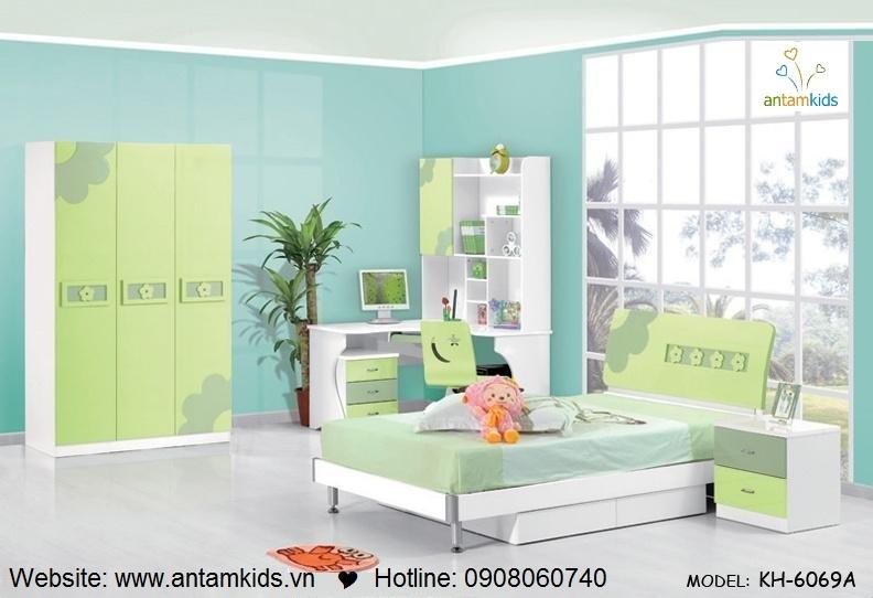 Phòng ngủ trẻ em KH-6069A đẹp thiên thần | PHONG TRE EM ANTAMKIDS