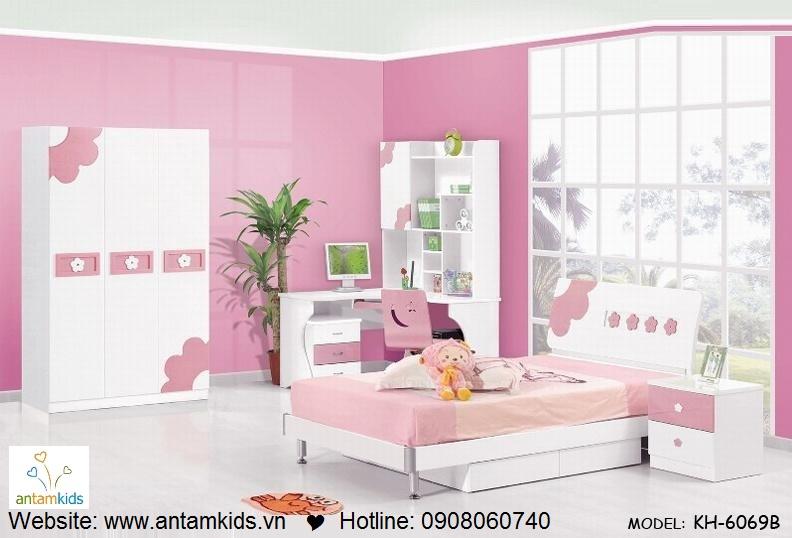 Phòng ngủ trẻ em KH-6069B đẹp thiên thần | PHONG TRE EM ANTAMKIDS