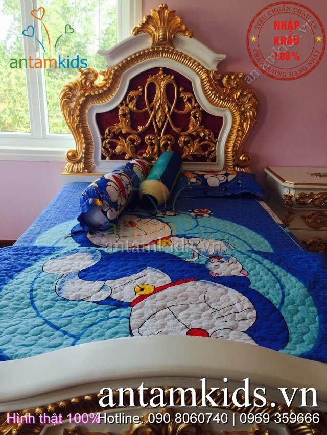 Chăn ga gối đệm Doremon trẻ em đẹp, bộ chăn ga gối hình Doremon Nhật bản