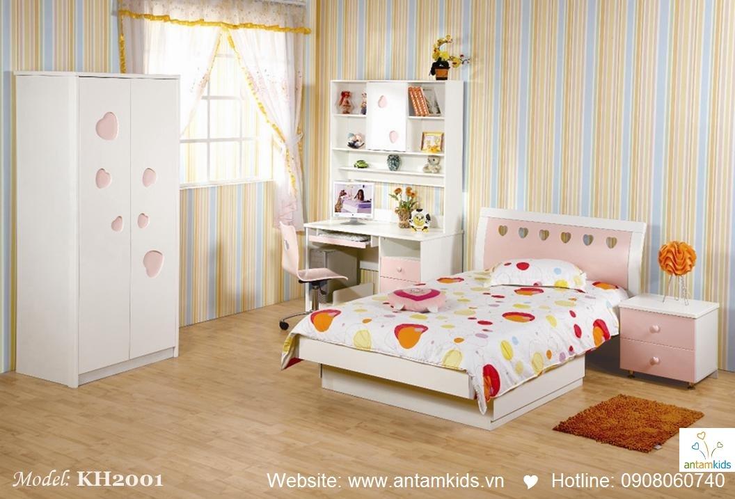 Phòng ngủ trẻ em KH2001 xinh xắn giá cực tốt| Noi That Tre Em AnTamKids