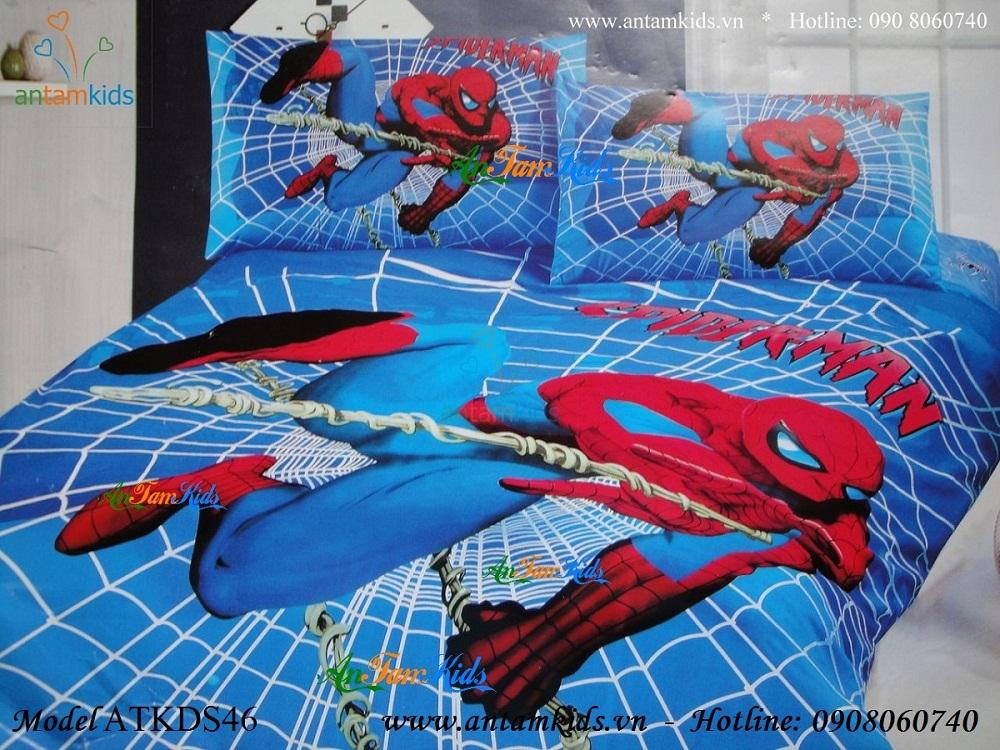 Chăn ga gối  Người nhện Spider Man ATKDS46 cá tính sành điệu cho bé trai