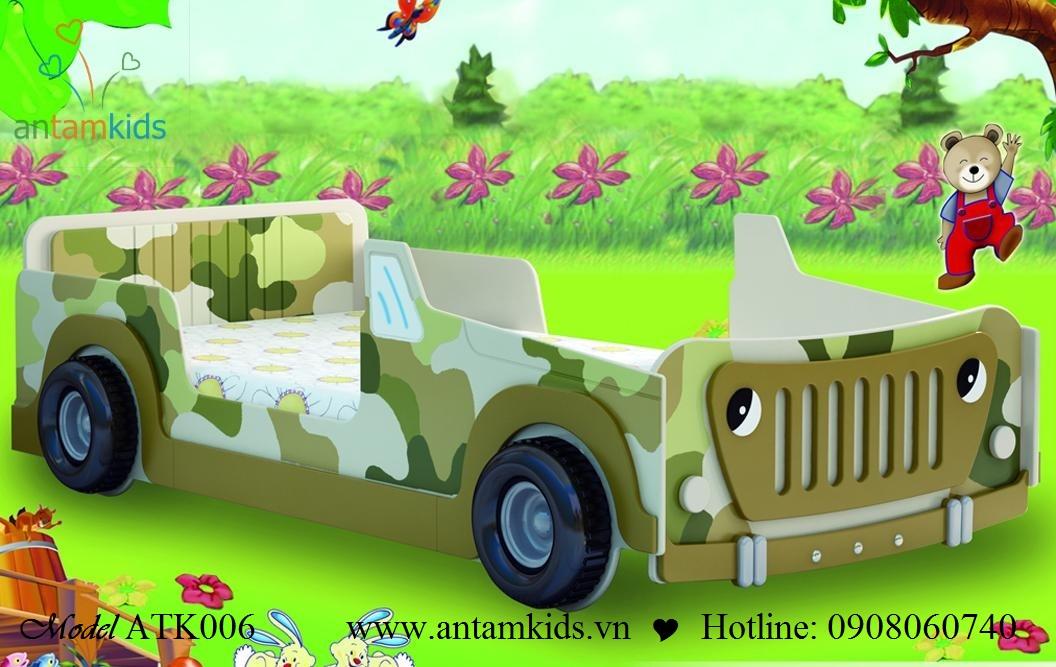 Giường ôtô ATK006 cho bé | AnTamkids.vn