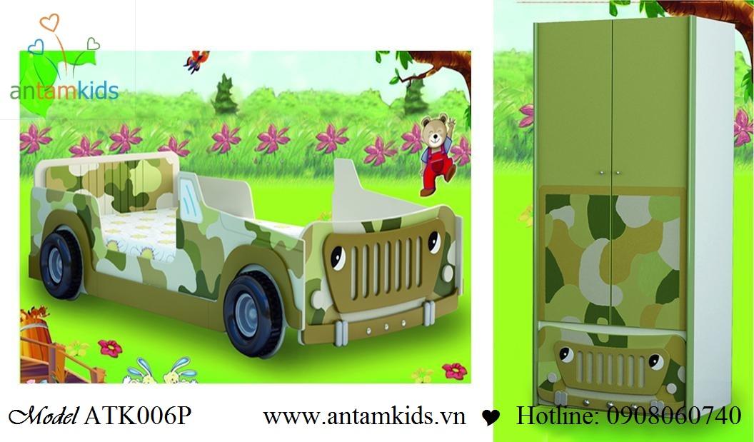 Phòng ngủ có Giường mô hình ôtô ATK006