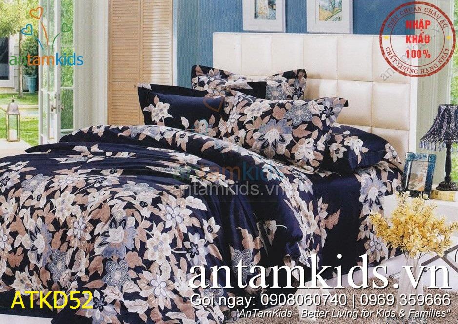Chăn ga gối Hàn Quốc, Drap mền cotton lụa cap cấp nhập khẩu AnTamKidsvn