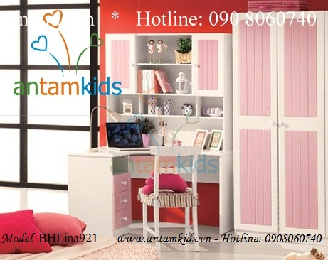 Bàn học cho bé BH Lina 921 màu hồng
