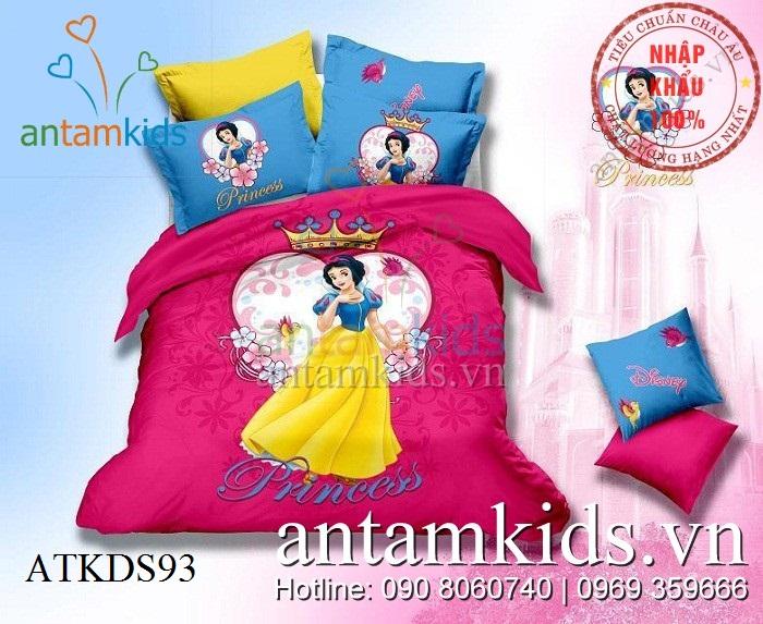 Chăn ga gối cho bé gái hình 3D Bạch Tuyết công chúa Disney cực đẹp