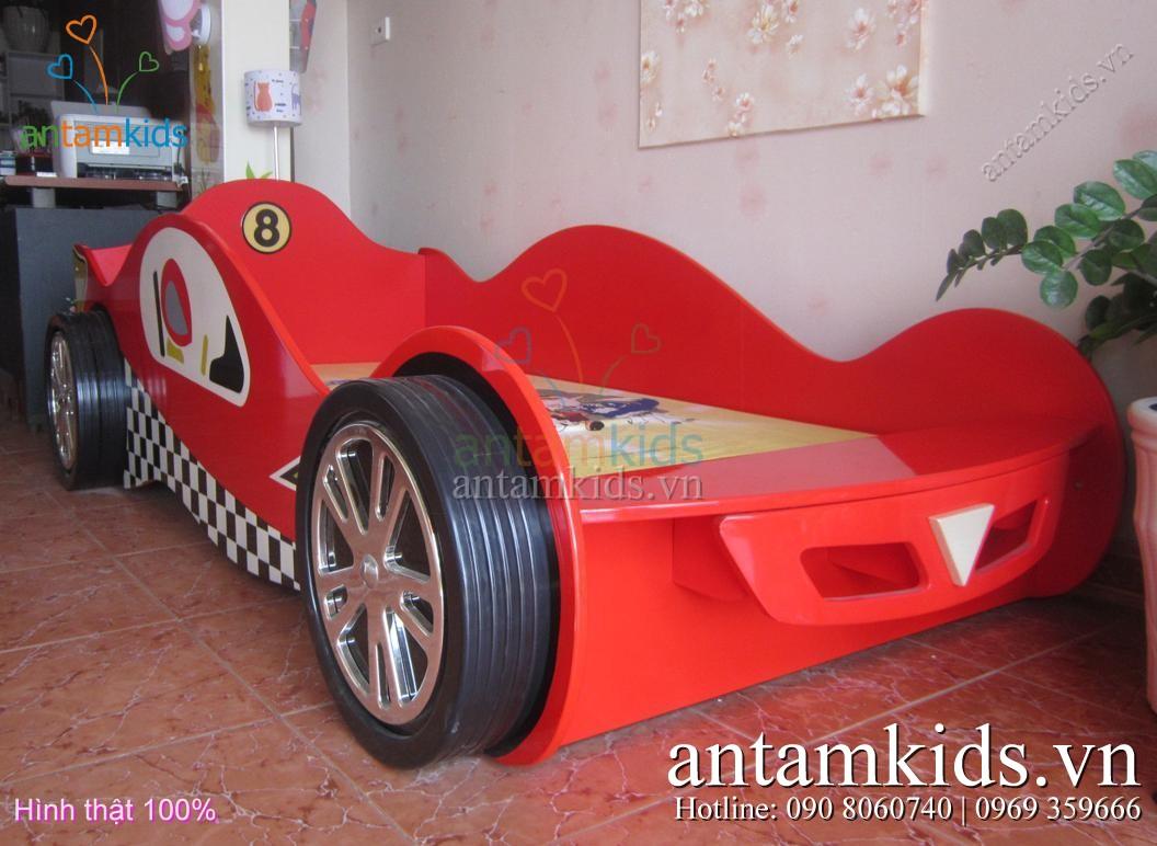 Giường xe đua bánh to như thật cho bé trai thật sành điệu - AnTamKids.vn