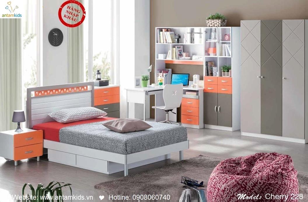 Phòng ngủ cho bé Cherry 228 đẹp thiên thần   PHONG TRE EM ANTAMKIDS