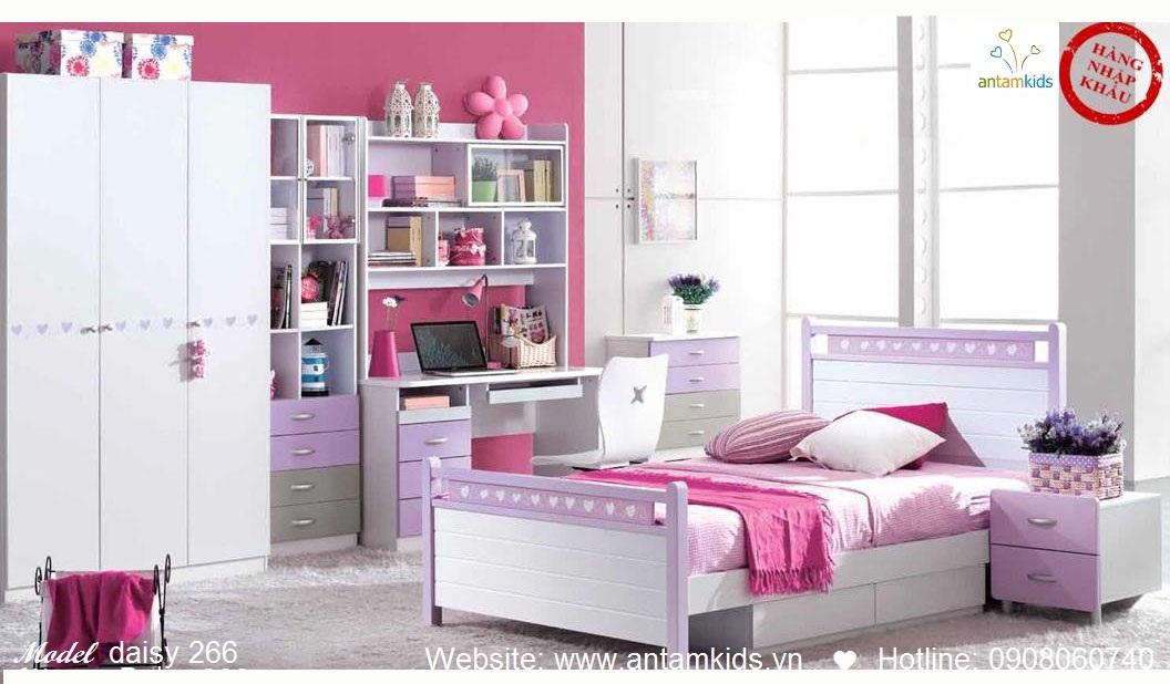 Phòng ngủ cho bé Daisy 266 đẹp thiên thần   PHONG TRE EM ANTAMKIDS