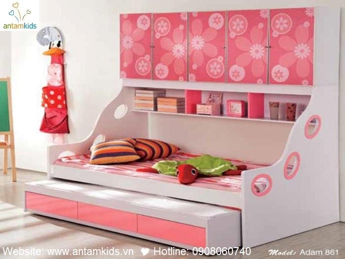Giường tầng cho bé Adam 861 - GIÁ ưu đãi TỐT NHẤT thị trường | ANTAMKIDS.VN, MAU HONG XINH DEP, HA NOI, TP. HCM