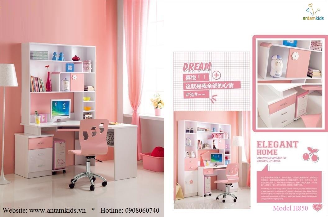 Phòng ngủ trẻ em H850 xinh xắn giá cực tốt  Noi That Tre Em AnTamKids