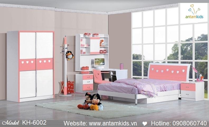 Phòng ngủ trẻ em KH-6002 xinh giá cực tốt| Noi That Tre Em AnTamKids