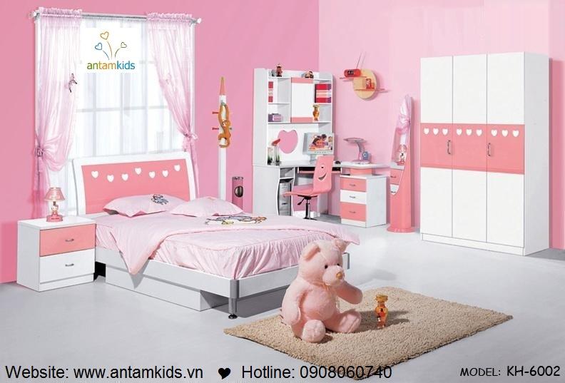 Phòng ngủ trẻ em KH-6002b xinh giá cực tốt| Noi That Tre Em AnTamKids