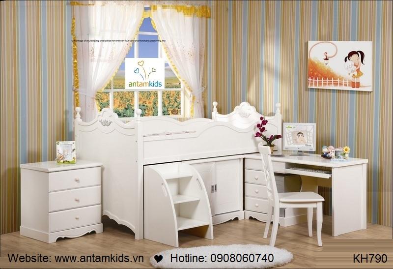 Giường tầng trẻ em KH790 cực đẹp GIÁ TỐT NHẤT | NOI THAT TRE EM - ANTAMKIDS