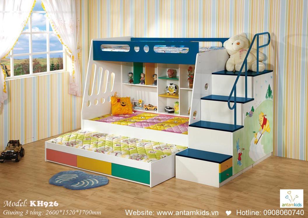 Giường 3 tầng trẻ em KH926