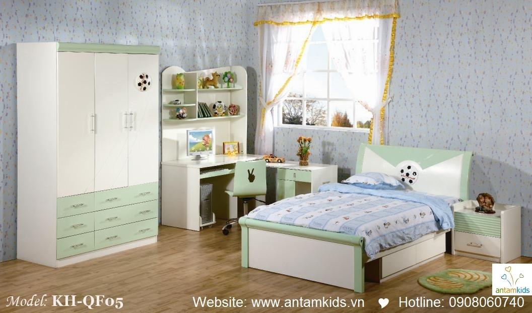 Phòng ngủ trẻ em KH-QF05 đẹp thiên thần   PHONG TRE EM ANTAMKIDS