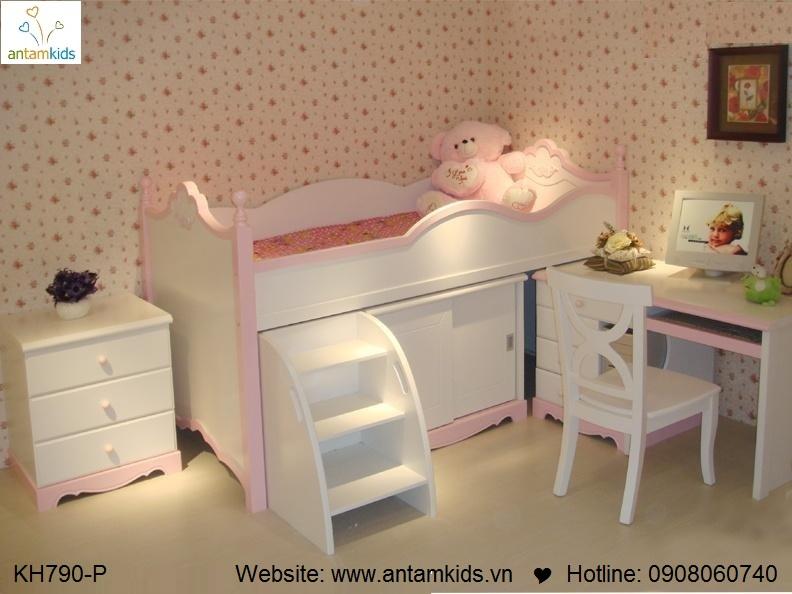 Giường tầng trẻ em KH790p cực đẹp GIÁ TỐT NHẤT | NOI THAT TRE EM - ANTAMKIDS
