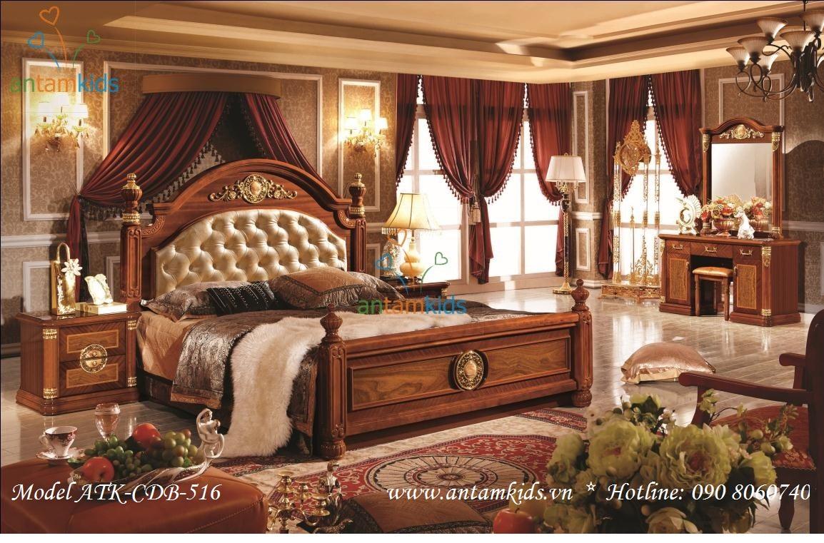 Muốn có nội thất phòng ngủ cổ điển đẹp, sang trọng đẳng cấp, hãy đến với Trung tâm nội thất trẻ em và gia đình AnTamKids, giá tốt nhất tại Hà Nội, tpHCM