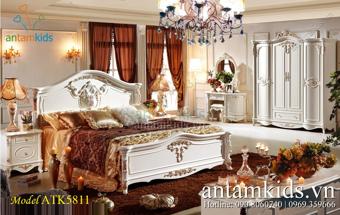 Phòng ngủ tân cổ điển French Style lãng mạn đầy sang trọng - AnTamKids.vn