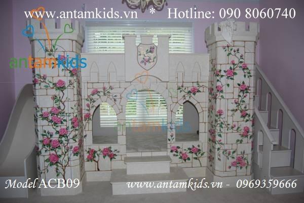 Giường lâu đài Princess Rose ACB09