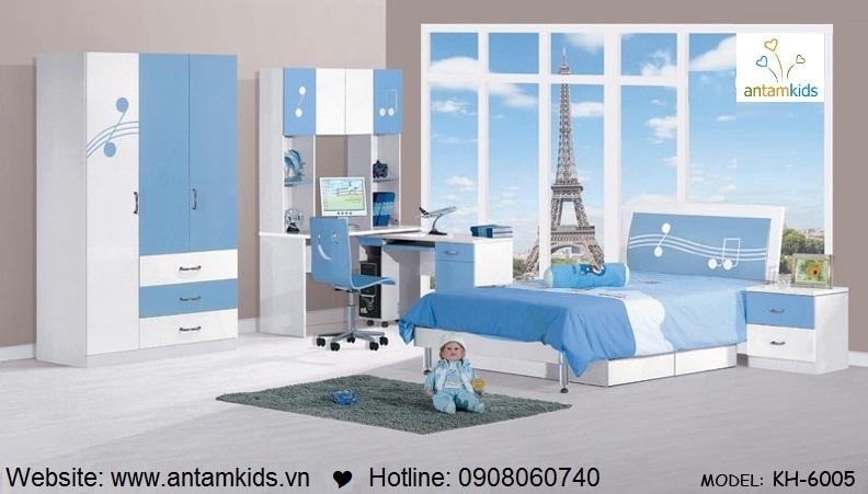 Phòng ngủ trẻ em KH-6005 tuyệt đỉnh   Noi That Tre Em AnTamKids