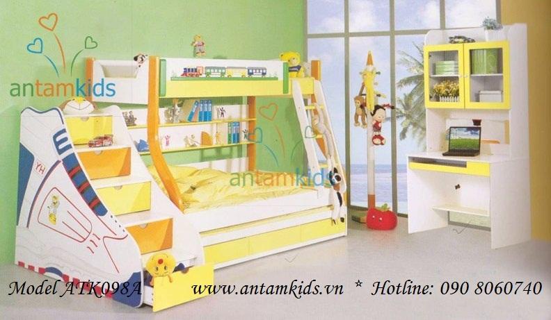 Giường 3 tầng đẹp ATK098A
