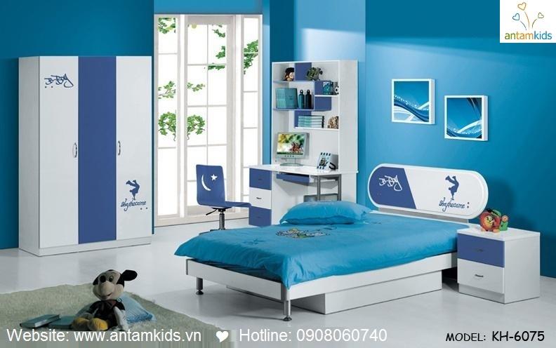 Phòng ngủ trẻ em KH-6075 đẹp thiên thần   PHONG TRE EM ANTAMKIDS