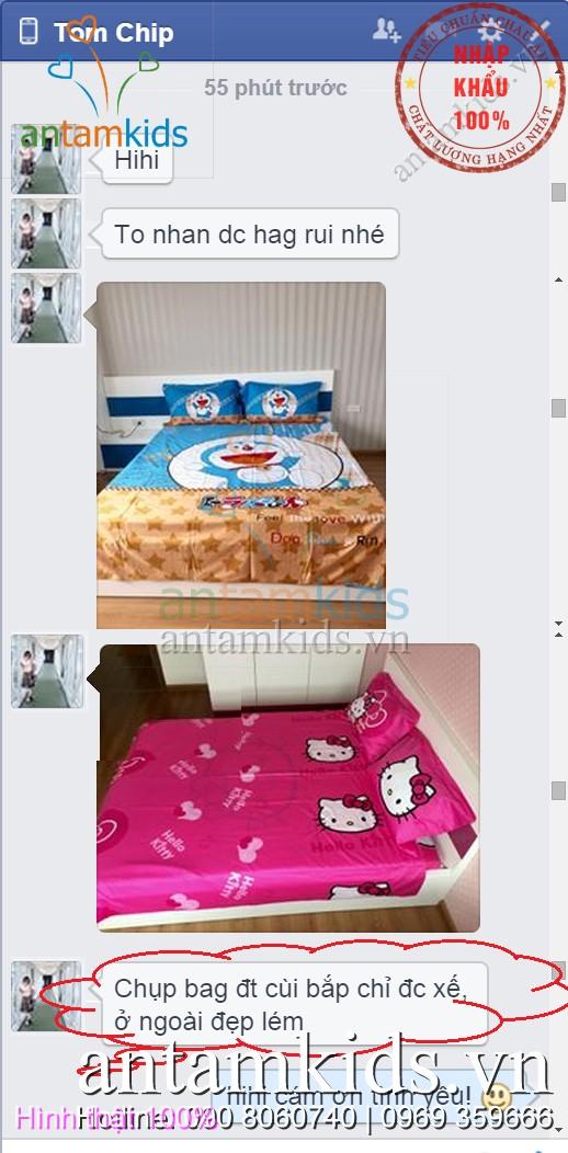 Bộ chăn ga gối in 3D Hello Kitty,drap trải giường hình Hello Kitty dễ thương cho em bé gái