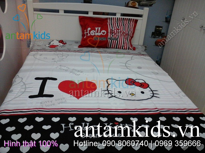 Chăn mền drap gối Hello Kitty tphcm vô cùng dễ thương cho em bé gái
