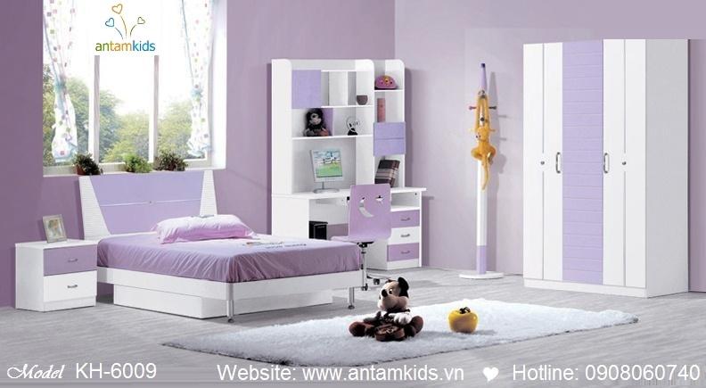 Phòng ngủ trẻ em KH-6009 tím mộng mơ | Noi That Tre Em AnTamKids