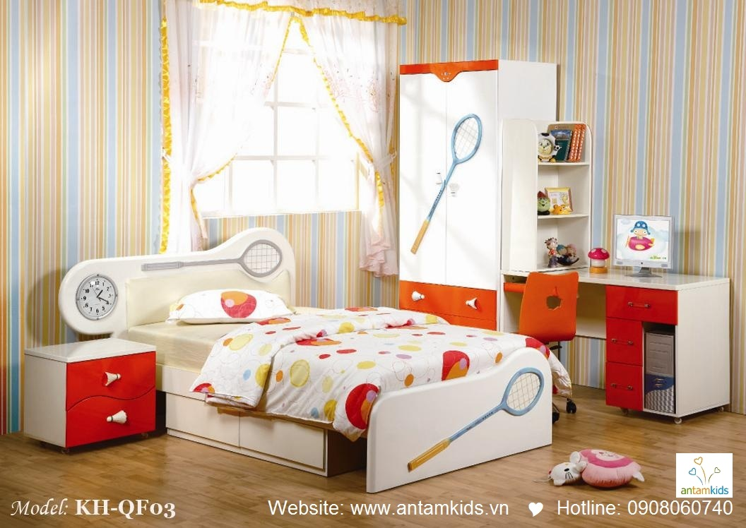 Phòng ngủ trẻ em KH-QF03 đẹp thiên thần   PHONG TRE EM ANTAMKIDS