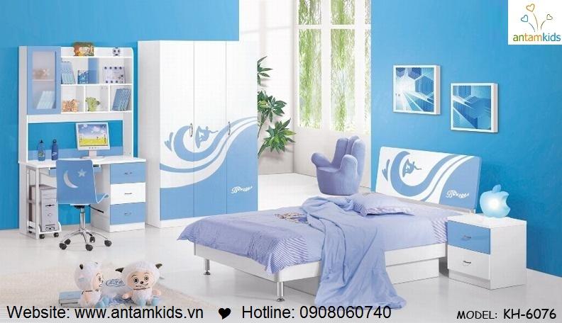 Phòng ngủ trẻ em KH-6076 đẹp thiên thần | PHONG TRE EM ANTAMKIDS
