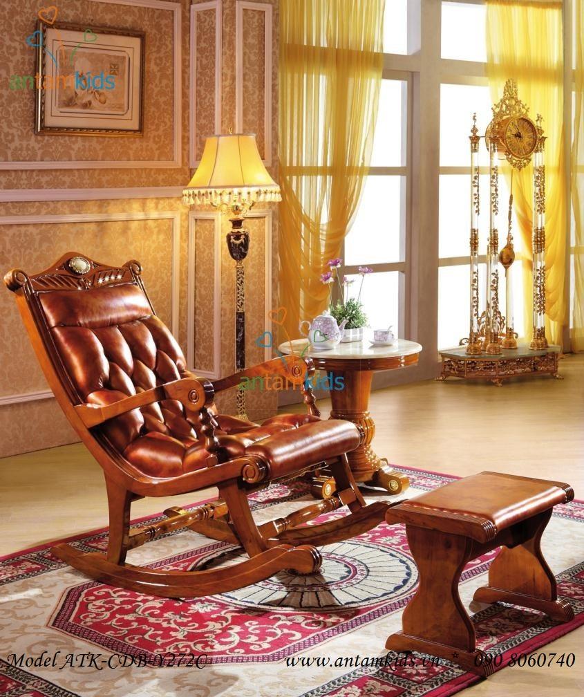 Ghế thư giãn cổ điển châu Âu cao cấp nhập ngoại tuyệt đẹp & sang trọng