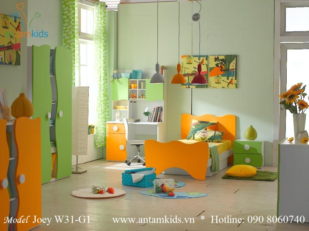 Bộ phòng ngủ cho bé Tomy & Niki tiêu chuẩn quốc tế, chất lượng Châu âu, đẹp mê ly - AnKamKids.vn