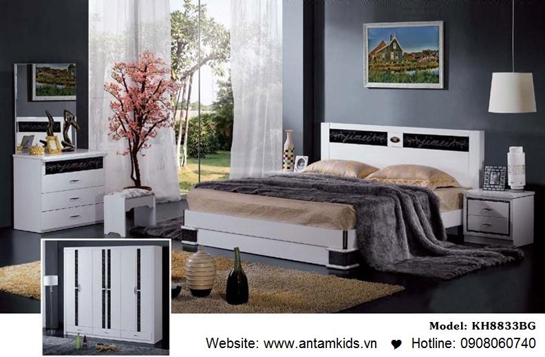 Phòng ngủ KH8833 đẹp & sang trọng | Noi That Phong Ngu AnTamKids