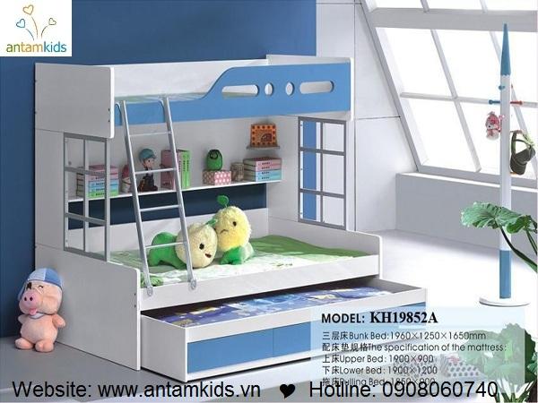Giường 3 tầng trẻ em KH19852A - GIÁ ưu đãi TỐT NHẤT thị trường | ANTAMKIDS.VN
