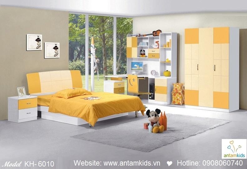 Phòng ngủ trẻ em KH-6010 xinh giá cực tốt| Noi That Tre Em AnTamKids